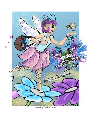 Lily The Fairy Coloring Book Adventure