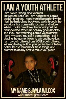 Jayla Wilcox Youth Athlete - Poster