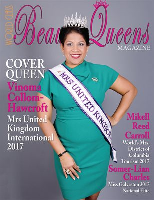 World Class Beauty Queens Magazine Vinoma Collom-Hawcroft