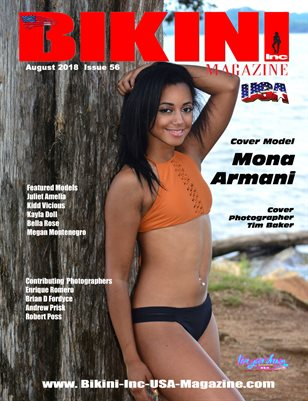 BIKINI INC USA MAGAZINE - Cover Model Mona Armani - August 2018