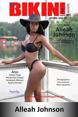 BIKINI INC USA MAGAZINE - COVER POSTER - Cover Model Alleah Johnson - July 2021