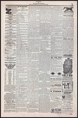 (PAGES 3-4 ) JUNE 17, 1882 MAYFIELD MONITOR NEWSPAPER, MAYFIELD, GRAVES COUNTY, KENTUCKY