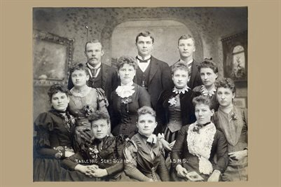 1890 INDIANA STATE NORMAL SCHOOL WITH NAMES ON THE BACK