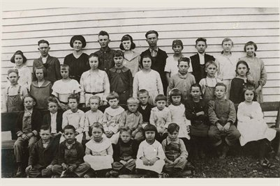 Jackson School about 1920, Marshall County, Kentucky