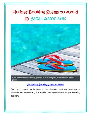 Holiday Booking Scams to Avoid by Bacall Associates