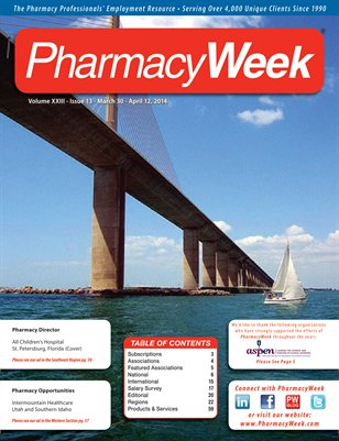 Pharmacy Week, Volume XXIII - Issue 13 - March 30 - April 12, 2014