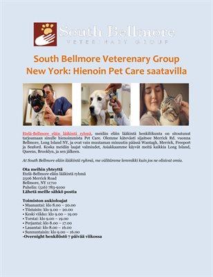 South Bellmore Veterenary Group New York: Hienoin Pet Care saatavilla