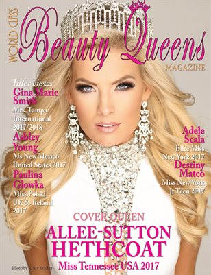 World Class Beauty Queens Magazine with Allee-Sutton Hethcoat