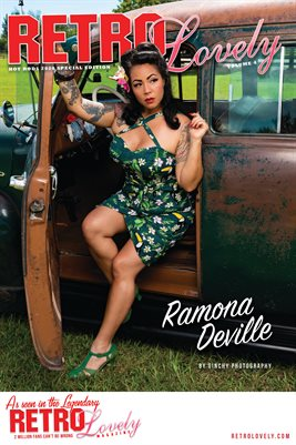 Ramona DeVille Hot Rods Cover Poster