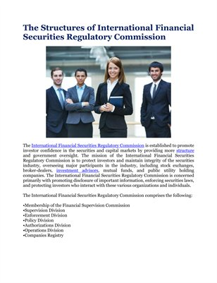 The Structures of International Financial Securities Regulatory Commission