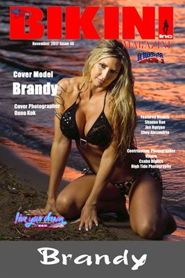 BIKINI INC USA MAGAZINE COVER POSTER - Cover Model Brandy - November 2017