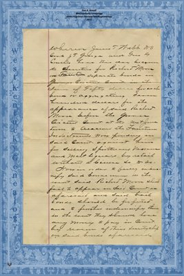 (PAGES 1-2) 1895 Mortgage, Richard Moore to J.T. Webb, W.S. Cook, J.T. George, G.G. Coulter, Graves County, Kentucky