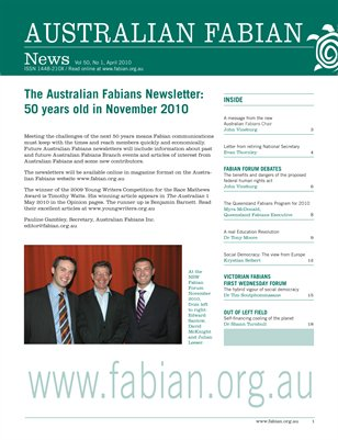 Australian Fabian News Vol 50 N0 1 2010