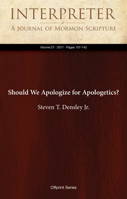 Should We Apologize for Apologetics?