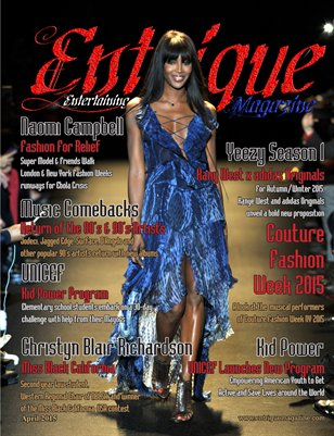 Entrigue Magazine April 2015 (Naomi Campbell) (Red)