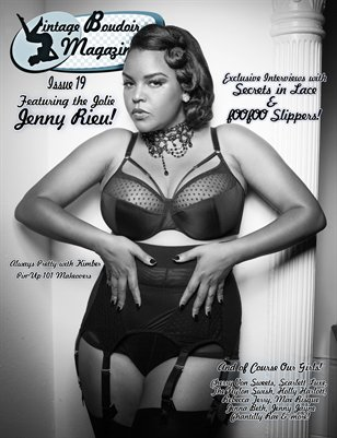 Vintage Boudoir Magazine - Issue 19 with Jenny Rieu Cover