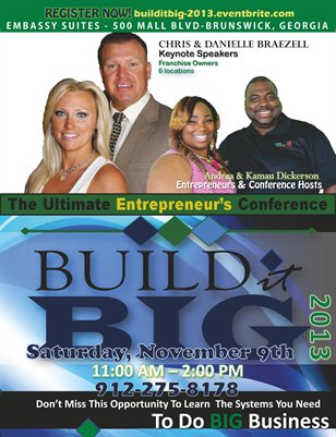 Build it BIG Conference Flyer