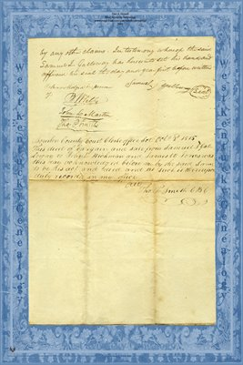 (PAGE 3-4) 1815 Deed, Samuel J. Galloway to John L. Hickman & James W. Jones, Bourbon County, Kentucky