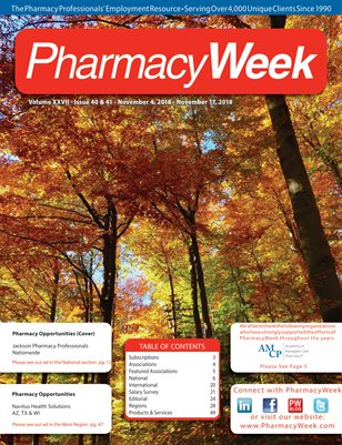 Pharmacy Week, Volume XXVII - Issue 40 & 41 - November 4, 2018 - November 17, 2018