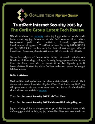 TrustPort Internet Security 2015 by The Corliss Group Latest Tech Review