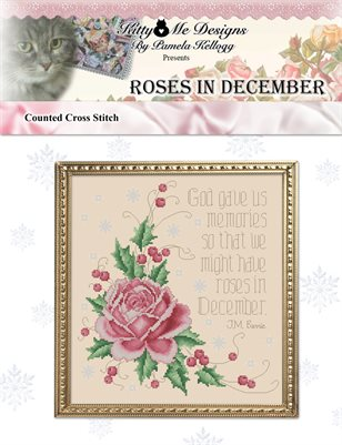 Roses In December Counted Cross Stitch Pattern