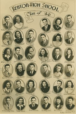 CLASS OF 1946 BENTON HIGH SCHOOL, BENTON, MARSHALL COUNTY, KENTUCKY