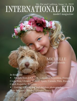 International Kid Model Magazine My pet and I edition