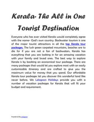 Kerala- The God's own country