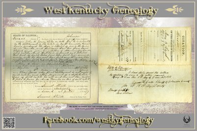 1877 Citation, Massac County, Mary A. Low, Admin., of Wyatt Cannady