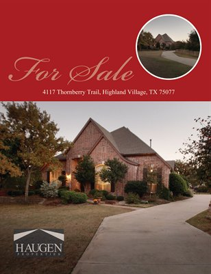 Haugen Properties -  4117 Thornberry Trail, Highland Village, TX 75077
