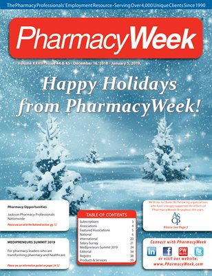 Pharmacy Week, Volume XXVII - Issue 44 & 45 - December 16, 2018 - January 5, 2019