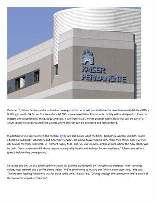 Dr. Richard Isaacs: Health and wellness facility