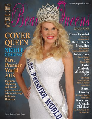 World Class Beauty Queens Magazine issue 80 with Nicole Gearing