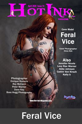 HOT INK MAGAZINE COVER POSTER - Cover Model Feral Vice - April 2020