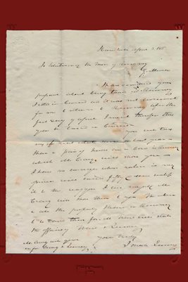 1835 Josiah Quincy Letter, Rumney, Grafton County, New Hampshire
