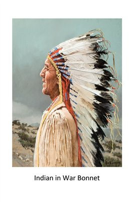 Indian in War Bonnet