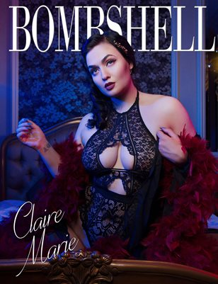 BOMBSHELL Magazine August 2018 - BOOK 1 - Claire Marie Cover