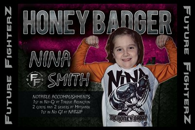 Nina HONEY BADGER Smith Poster