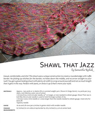 Shawl that Jazz