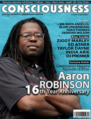 Aaron Robinson (Founder/Editor of Consciousness Magazine) featured on Cover of Consciousness Magazine