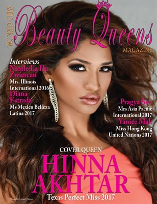 World Class Beauty Queens Magazine with Hinna Akhtar