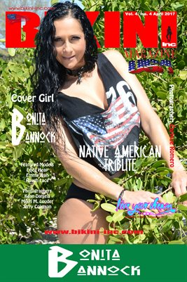 BIKINI INC USA MAGAZINE POSTER - Cover Girl Bonita Bannock - April 2017