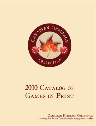 2010 Master Catalogue of Canadian Games