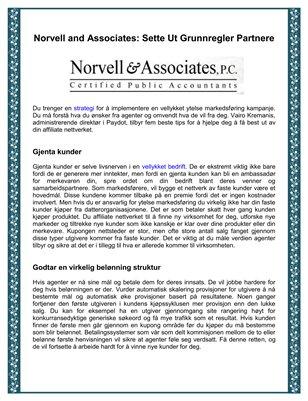 Norvell and Associates: Sette Ut Grunnregler Partnere
