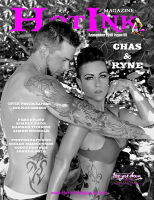 HOT INK MAGAZINE - Cover Models Chas & Ryne Kentala - September 2018
