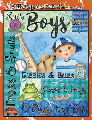 Little Boys Are Made of Sampler - Painting Tutorial Booklet - Sharon Chinn