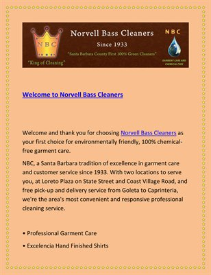 Welcome to Norvell Bass Cleaners