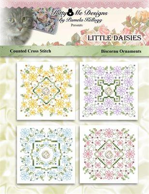 Lazy Daisies Biscornu Ornaments Counted Cross Stitch Pattern
