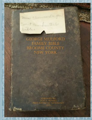 George Mulford Family Bible, Broome County, New York