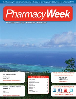 Pharmacy Week, Volume XXVI - Issue 11 & 12 - March 12, 2017 - March 25, 2017